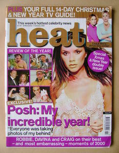 <!--2000-12-23-->Heat magazine - Victoria Beckham cover (23 December 2000-5