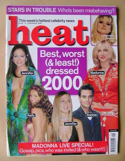<!--2000-12-09-->Heat magazine - Best, worst (& least!) dressed 2000 cover