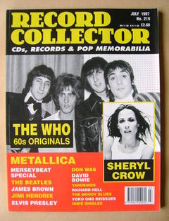 Record Collector - The Who cover (July 1997 - Issue 215)