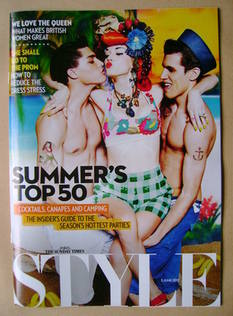 <!--2012-06-03-->Style magazine - Summer's Top 50 cover (3 June 2012)