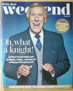 <!--2012-01-21-->Weekend magazine - Sir Bruce Forsyth cover (21 January 2012)