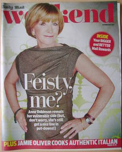 Weekend magazine - Anne Robinson cover (25 February 2012)