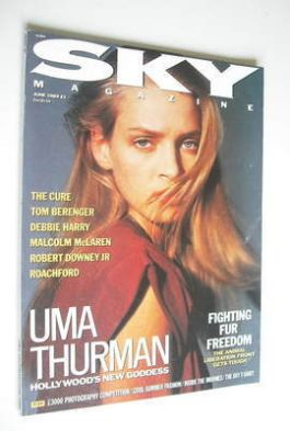 <!--1989-06-->Sky magazine - Uma Thurman cover (June 1989)