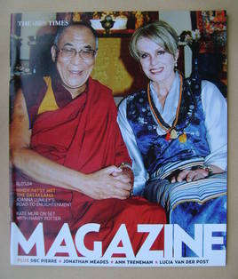 <!--2004-05-15-->The Times magazine - The Dalai Lama and Joanna Lumley cove