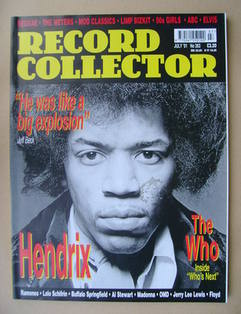 Record Collector - Jimi Hendrix cover (July 2001 - Issue 263)