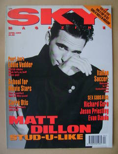 <!--1993-04-->Sky magazine - Matt Dillon cover (April 1993)