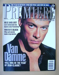 Premiere magazine - Jean-Claude Van Damme cover (January 1995 - UK Edition)