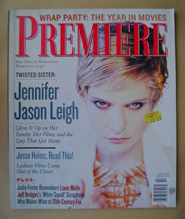 Premiere magazine - Jennifer Jason Leigh cover (February 1996)