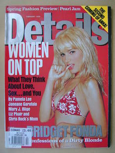 Details magazine - February 1998 - Bridget Fonda cover