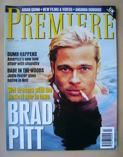 Premiere magazine - Brad Pitt cover (April 1995 - UK Edition)