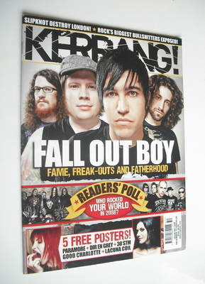<!--2008-12-13-->Kerrang magazine - Fall Out Boy cover (13 December 2008 -
