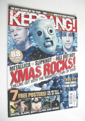 <!--2008-12-20-->Kerrang magazine - Xmas Rocks cover (20-30 December 2008 -