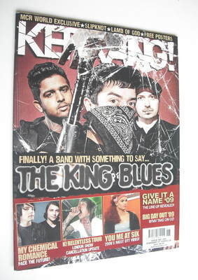 <!--2009-02-04-->Kerrang magazine - The King Blues cover (4 February 2009 -