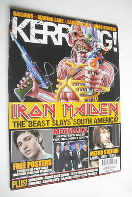 <!--2009-04-18-->Kerrang magazine - Iron Maiden cover (18 April 2009 - Issu