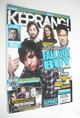 <!--2009-11-21-->Kerrang magazine - Fall Out Boy cover (21 November 2009 -