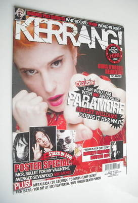 <!--2009-12-12-->Kerrang magazine - Paramore cover (12 December 2009 - Issu