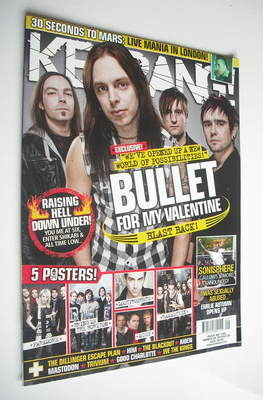 <!--2010-03-06-->Kerrang magazine - Bullet For My Valentine cover (6 March