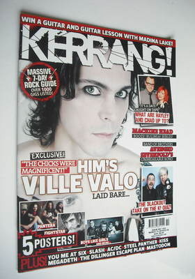 <!--2010-03-13-->Kerrang magazine - HIM Ville Valo cover (13 March 2010 - I