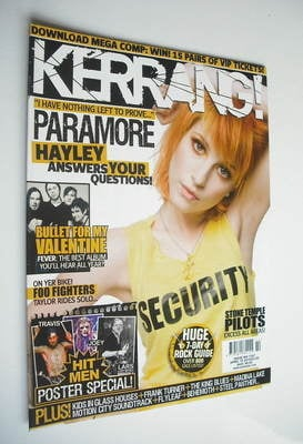 <!--2010-04-10-->Kerrang magazine - Hayley Williams cover (10 April 2010 -