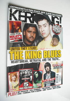 <!--2010-05-08-->Kerrang magazine - The King Blues cover (8 May 2010 - Issu