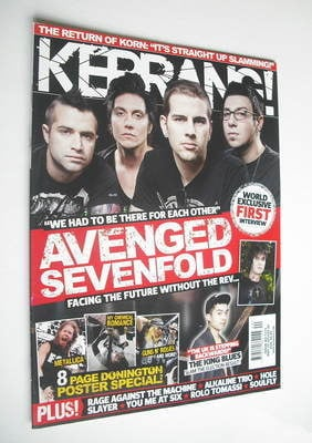 <!--2010-05-22-->Kerrang magazine - Avenged Sevenfold cover (22 May 2010 -