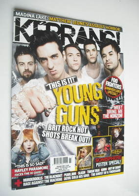 <!--2010-07-10-->Kerrang magazine - Young Guns cover (10 July 2010 - Issue