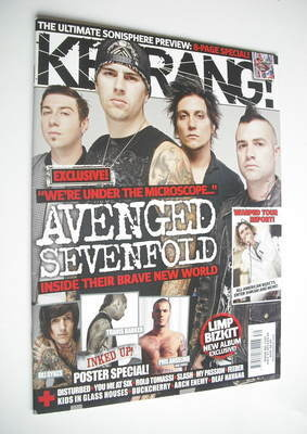 <!--2010-07-31-->Kerrang magazine - Avenged Sevenfold cover (31 July 2010 -