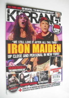 <!--2010-08-21-->Kerrang magazine - Iron Maiden cover (21 August 2010 - Issue 1326)
