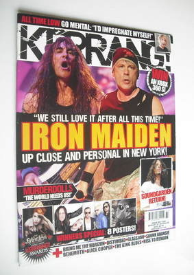 <!--2010-08-21-->Kerrang magazine - Iron Maiden cover (21 August 2010 - Iss