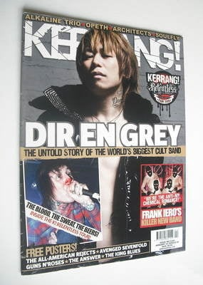 <!--2009-01-24-->Kerrang magazine - Dir En Grey cover (24 January 2009 - Is