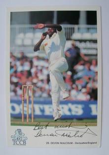 Devon Malcolm autograph
