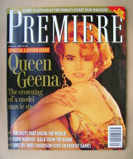 Premiere magazine - Geena Davis cover (Autumn 1992 - UK Edition)