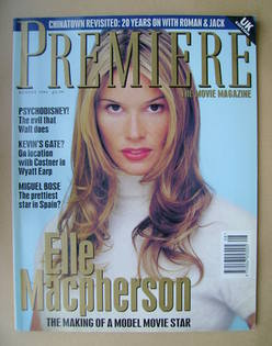 Premiere magazine - Elle Macpherson cover (August 1994 - UK Edition)
