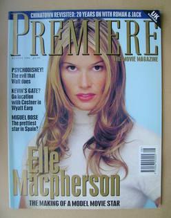 Premiere magazine - Elle Macpherson cover (August 1994 - UK Edition)