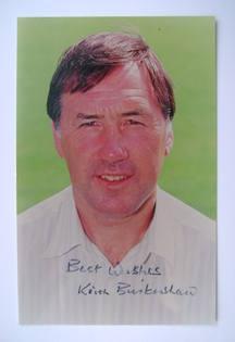 Keith Burkinshaw autograph