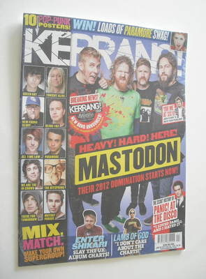 <!--2012-01-28-->Kerrang magazine - Mastodon cover (28 January 2012 - Issue
