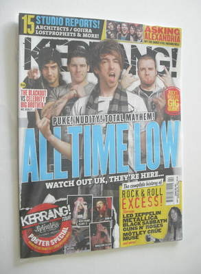 <!--2012-01-14-->Kerrang magazine - All Time Low cover (14 January 2012 - I
