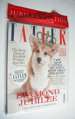 <!--2012-06-->Tatler magazine - June 2012 - Diamond Jubilee cover