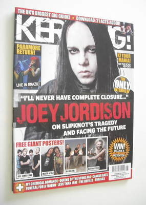 <!--2011-02-26-->Kerrang magazine - Joey Jordison cover (26 February 2011 -