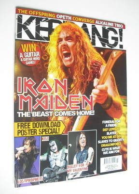 <!--2008-07-05-->Kerrang magazine - Iron Maiden cover (5 July 2008 - Issue