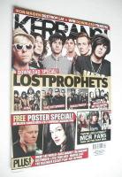 <!--2008-06-14-->Kerrang magazine - Lostprophets cover (14 June 2008 - Issue 1214)