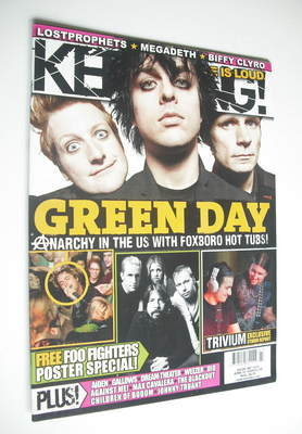 <!--2008-06-07-->Kerrang magazine - Green Day cover (7 June 2008 - Issue 12