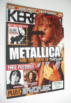 <!--2008-05-24-->Kerrang magazine - Metallica cover (24 May 2008 - Issue 12