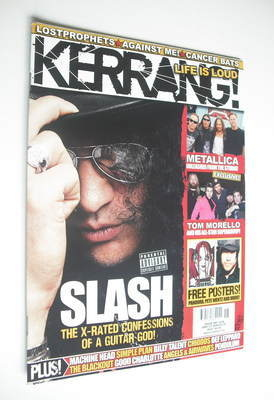 <!--2008-05-03-->Kerrang magazine - Slash cover (3 May 2008 - Issue 1208)