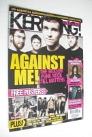 <!--2008-04-19-->Kerrang magazine - Against Me! cover (19 April 2008 - Issue 1206)