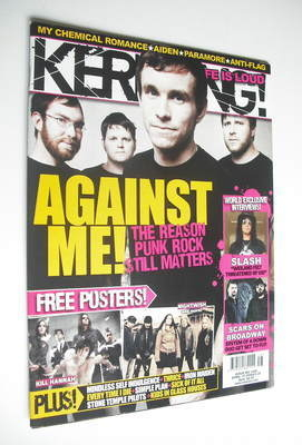 <!--2008-04-19-->Kerrang magazine - Against Me! cover (19 April 2008 - Issu