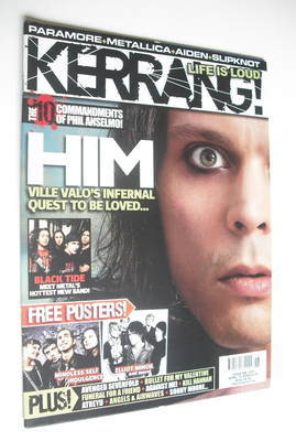 <!--2008-04-12-->Kerrang magazine - HIM Ville Valo cover (12 April 2008 - I