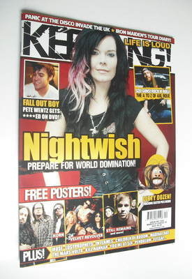<!--2008-03-22-->Kerrang magazine - Nightwish cover (22 March 2008 - Issue
