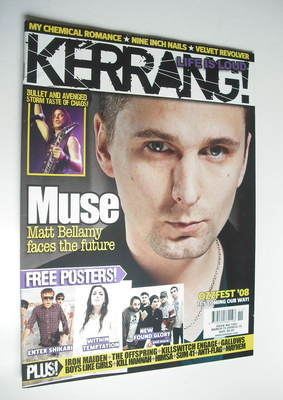 <!--2008-03-15-->Kerrang magazine - Matt Bellamy cover (15 March 2008 - Iss