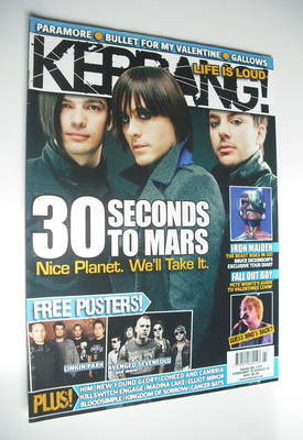 <!--2008-02-16-->Kerrang magazine - 30 Seconds To Mars cover (16 February 2